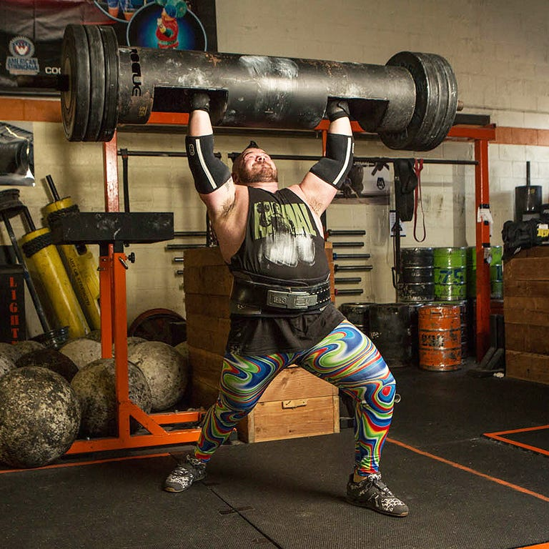 US World Record Log Press Holder Rob Kearny